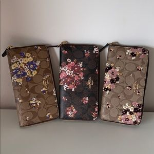 COACH FLORAL LONG SIP WALLET F31561 F31572